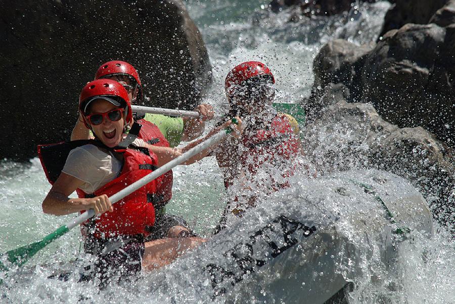 A big splash on the Tuolumne River