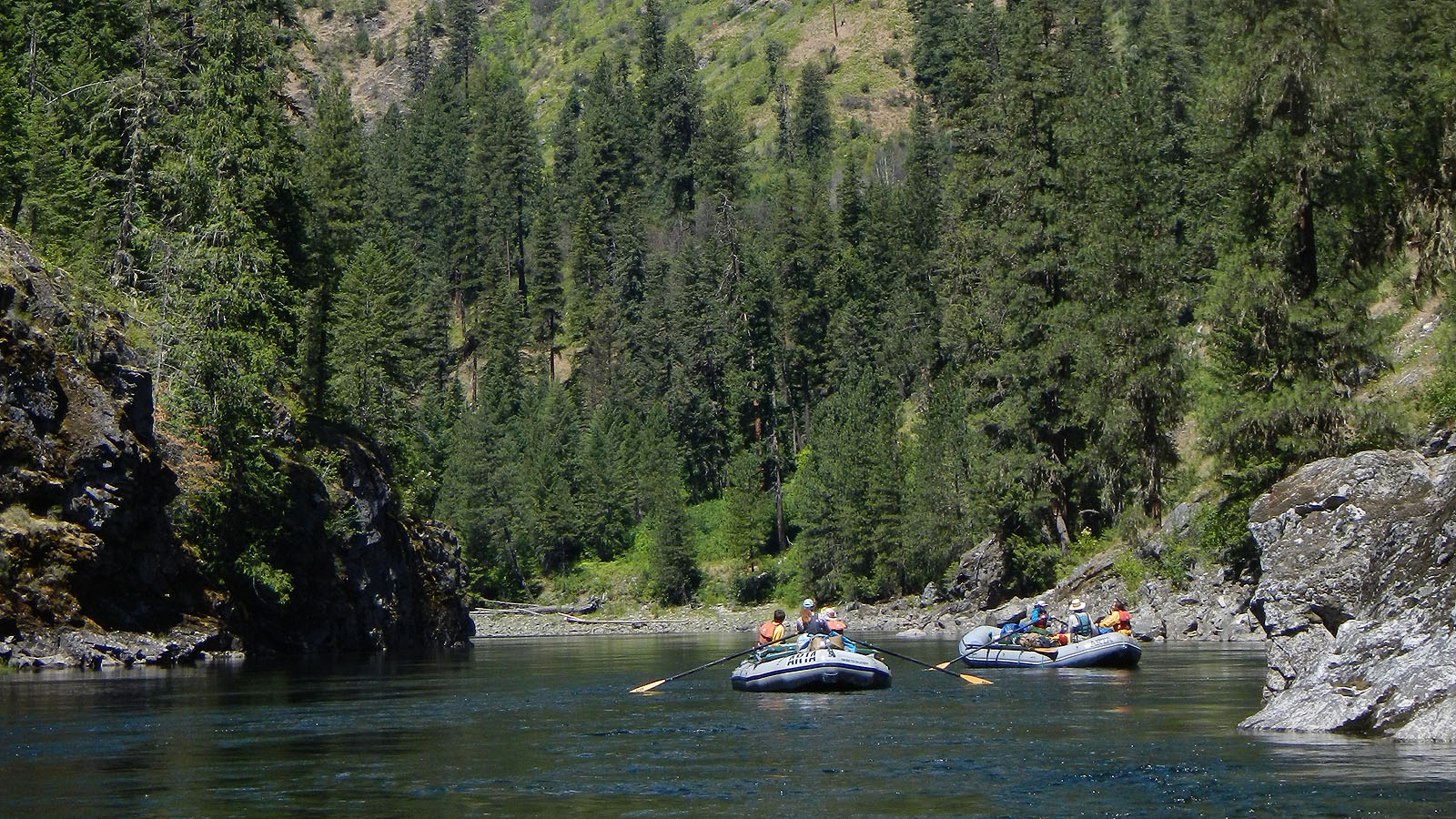 floating downstream on the Selway River in Idaho