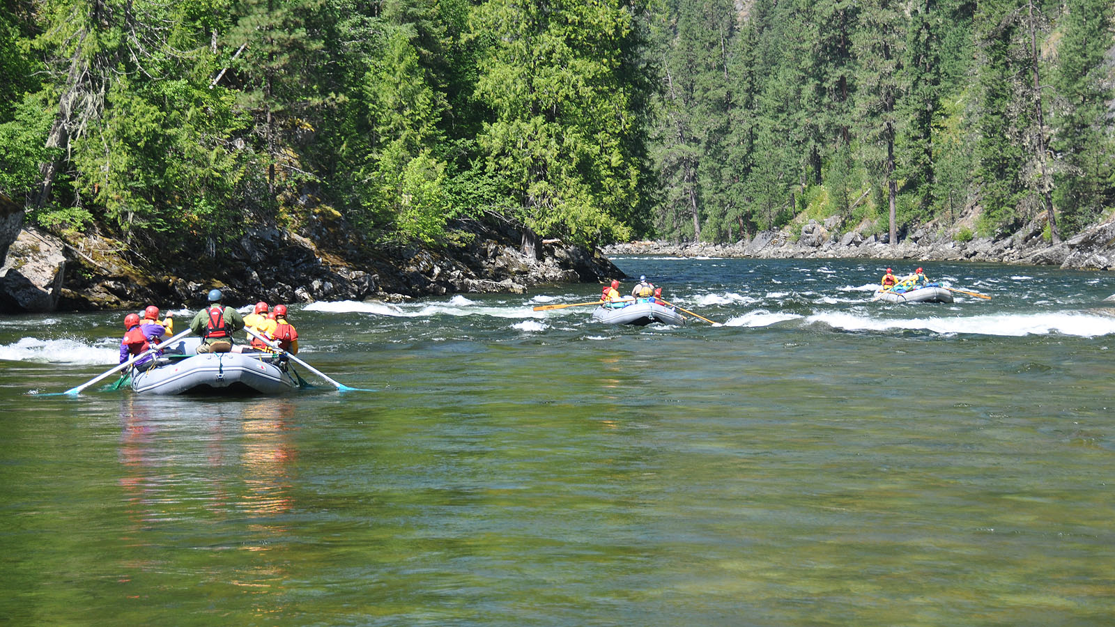 Some smaller rapids on the Selway River in Idaho