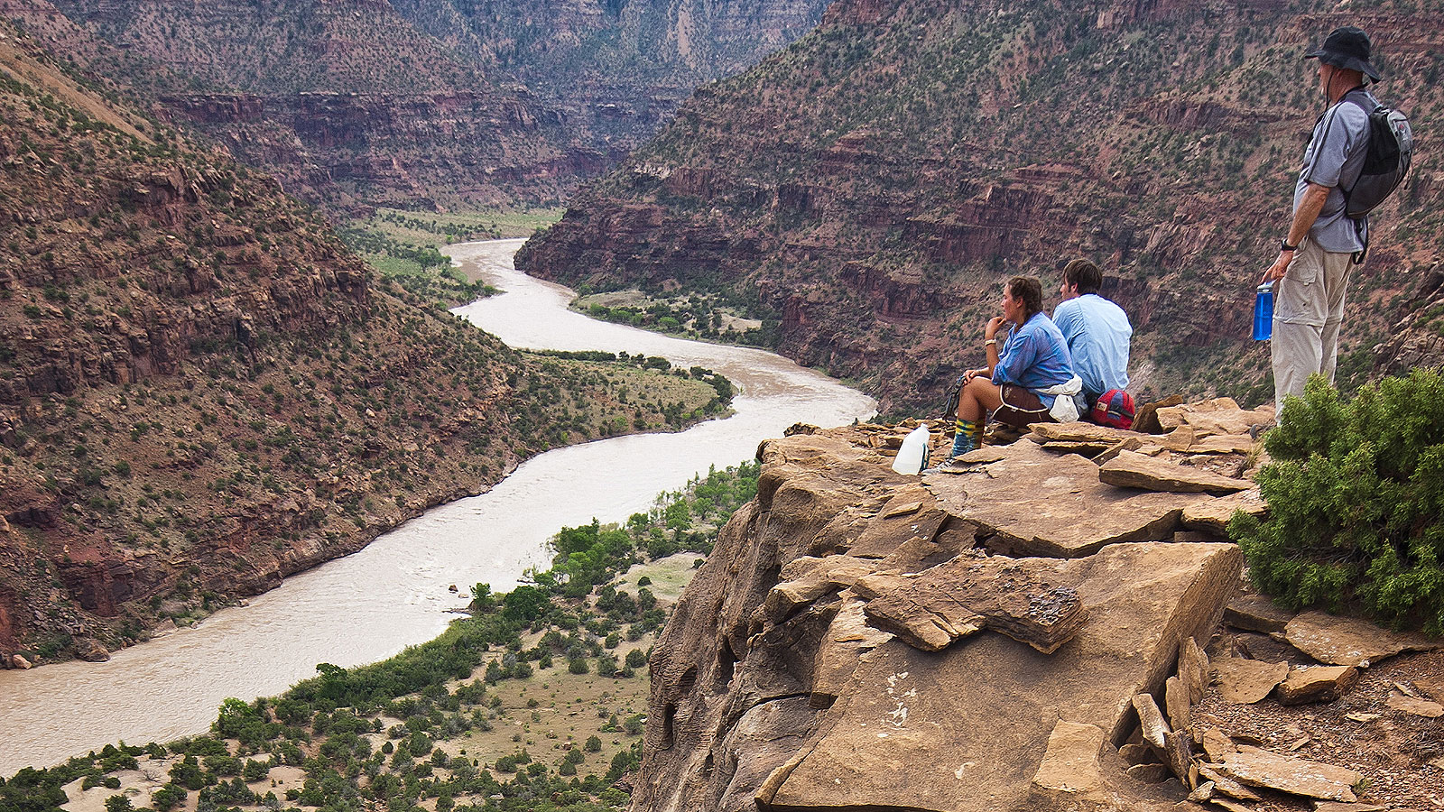 Overlooking the river on the Green River in Desolation Canyon