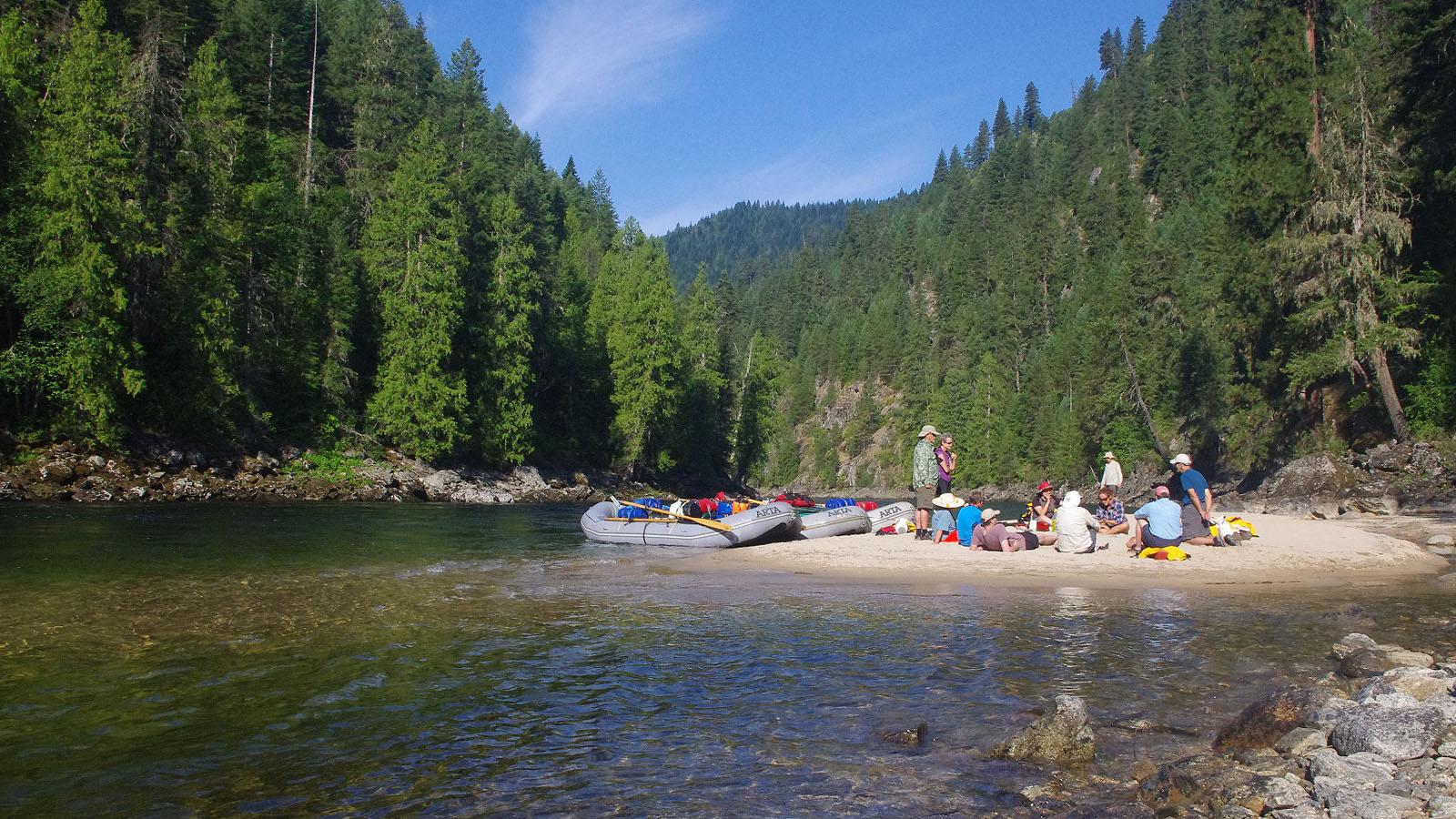 A lunch break along the Selway River in Idaho